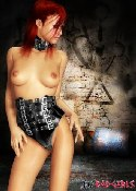 redhead corset