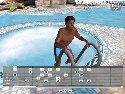 3D GayVilla pool black boy posing